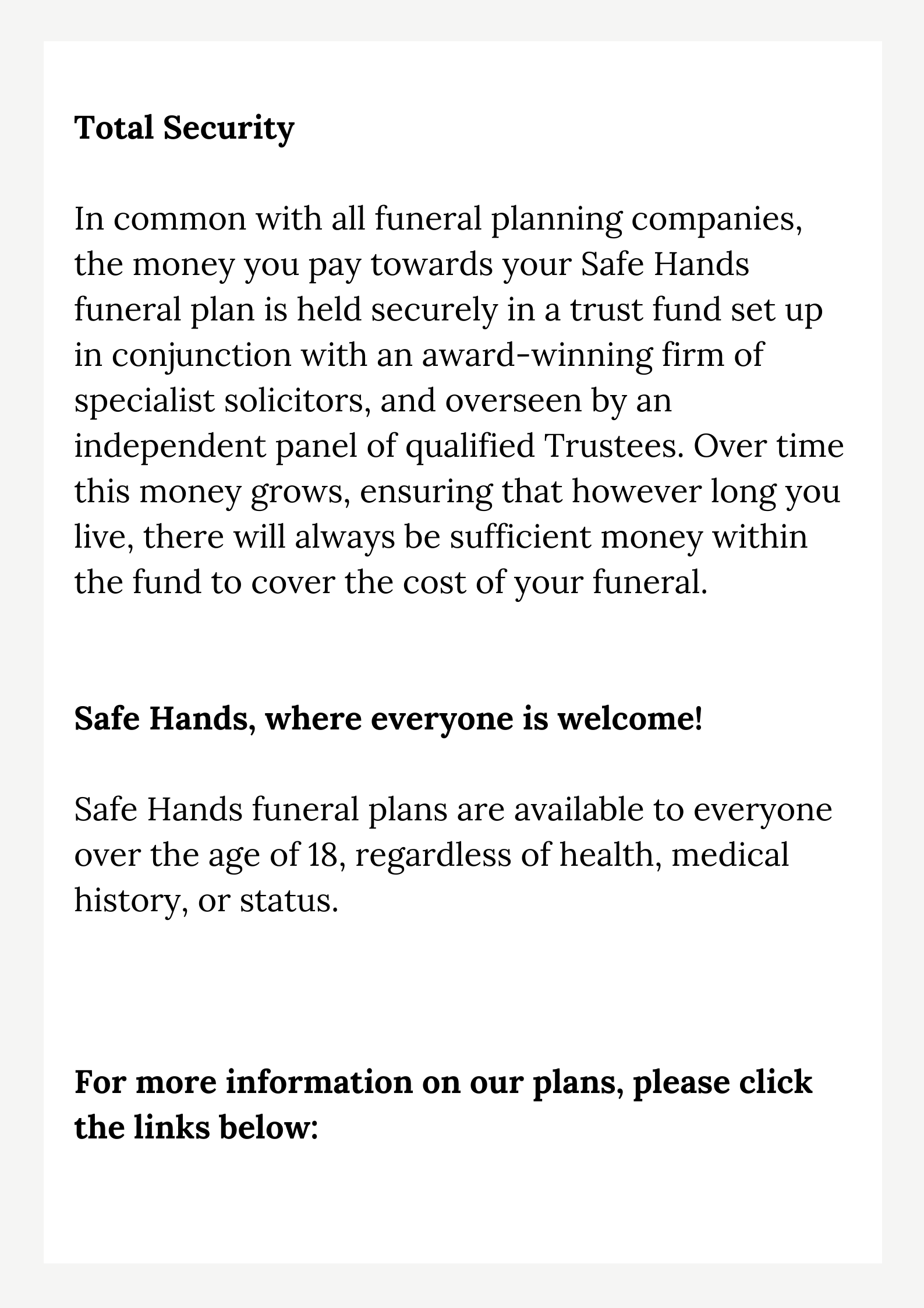 funeral plans page 2