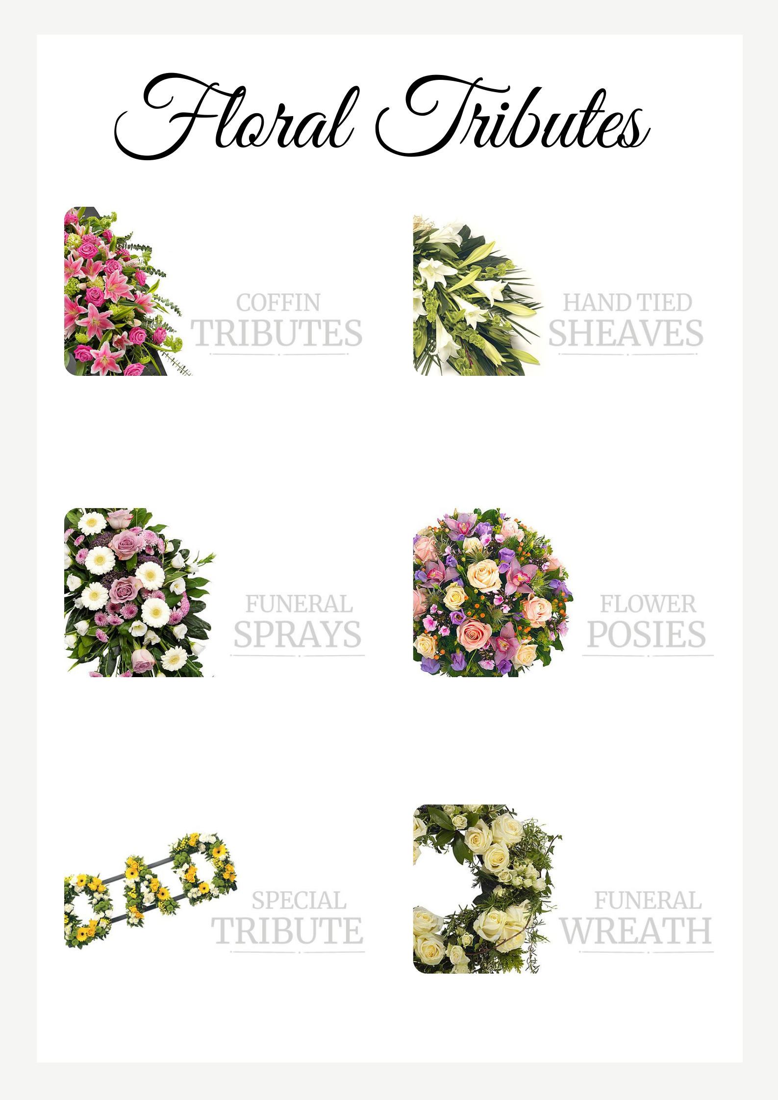 additional extras flowers